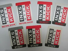 INXS satin cloth backstage passes 7 AUTHENTIC KICK rectangles !