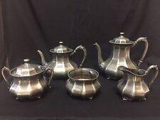 Antique Reed & Barton Silverplate 5 Piece Coffee / Tea Set #3560