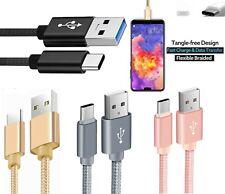 1M 2M 3M Long USB-C Type C, Lightning USB, Micro USB Nylon Braided Charger Cable