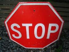 Vintage Heavy Metal Embossed Stop Sign