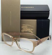 New BURBERRY Eyeglasses B 2127 3377 52-17 Brown Fade Beige Frame w/Striped Beige