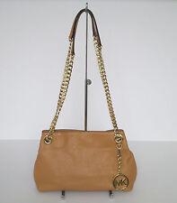 Michael Kors Chain Peanut Leather Medium Messenger Shoulder Handbag