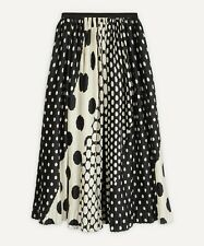 DRIES VAN NOTEN Sihame Polka Dot Satin Skirt FR38 UK10