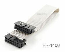 6 inch 14-Pin 2x7-Pin 2.54-Pitch Female 14-Wire IDC Flat Ribbon Cable, FR-1406
