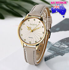 Wholesale Grey Leather Crystal White Dial Quartz Watch Women Lady Wrist Watch