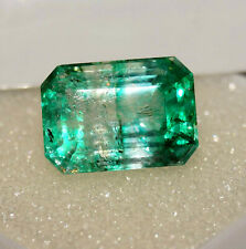 5.25 Ct Natural Columbian Beryl Emerald Shape Ring Size Gemstone Free Gift