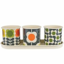 Orla Kiely Spot Flower Stem 3 Herb Pots With Tray