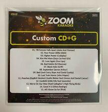 More details for zoom karaoke cd+g disc - pop chart picks 2021 (part 3) - 15 big pop hits!