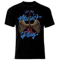 Musik Metal Rock N Roll Rockabilly Skull Punk Guitar Gothic Totenkopf T-Shirt