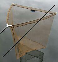 Karpfenkescher 106cm Unterfangkescher Carp Net +1,80m Kescherstange Metall Block