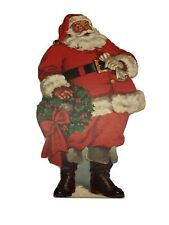 1940's Die Cut Santa Claus 8.5� X 4.5� Nice Condition / Heavy Paper