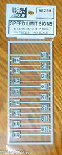 Tichy Train Group #8259 (HO Scale) Speed Limit Signs (16 in pkg) -- Low Speeds