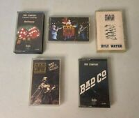 Lot 5 Bad Company Cassette Tapes Holy Water Straight Shooter Here Comes Trouble