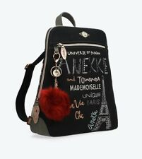 Anekke Couture Cool Black Backpack Ladies Rucksack High Quality UK Stock