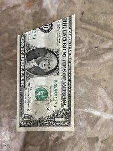 1981 1$ Fold Over Error 1.00 FRN New York District