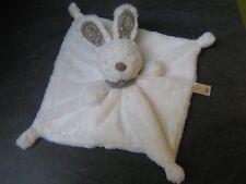 doudou lapin blanc marron brodé oreille bandana simba dickie