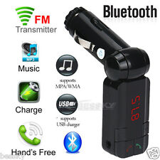 BLUETOOTH CAR KIT MP3 FM TRANSMITTER SD USB CHARGER HANDSFREE FOR IPHONE ANDROID