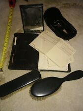 Vintage - Traveling Writing Case, Manicure Set, Mirror And Brushes