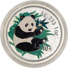 2000 China Silver Panda 1 oz 10 Yuan Colorized - BU in Capsule