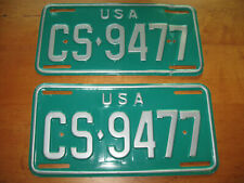 Vintage set of US Military License Plates from Germany