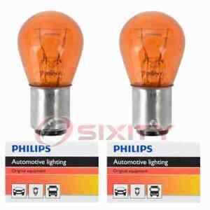 2 pc Philips Front Turn Signal Light Bulbs for Oldsmobile 442 98 Custom cn