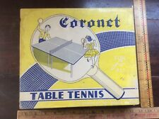 Vintage Coronet Table Tennis By Allied Victor Mfg. Complete