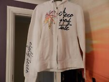 Aeropostale, White Hoodie with palm tree pattern, Size XL (around size 16)