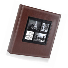 Photo Album 500 Pockets 6x4 Photos, Extra Large Size Leather Cover Slip in Weddi