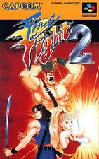 Framed Super Nintendo Game Print – Final Fight 2 (CAPCOM Gaming Arcade Classic)