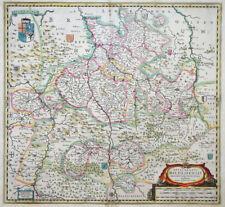 Bassa Sassonia Episcopatus hildesiensis Hildesheim STEMMA Janssonius gigas 1633