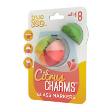 True Fabrications TrueZoo Citrus Wine Glass Charms / Drink Markers - Set of 8