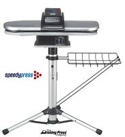Silver Steam Ironing Press 64cm with Stand by Speedypress (+ FREE Cover & Foam!)