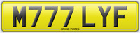 M777 LYF REGISTRATION MILLY F NUMBER PLATE ASSIGNMENT FEES INCLUDED MILLIE REG