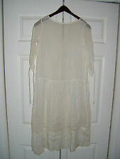 ANTIQUE VICTORIAN EDWARDIAN SMALL LADIES COTTON DRESS