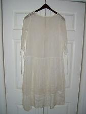 ANTIQUE VICTORIAN EDWARDIAN SMALL LADIES COTTON DRESS