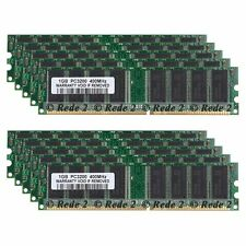 10GB 10X1GB DDR1 400Mhz PC3200 2.5V 184Pin Low Density Dimm Desktop SDRAM Memory