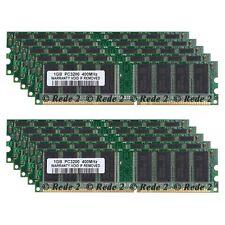 10GB 10X1GB DDR1-400Mhz PC3200 2.5V 184Pin Low Density Dimm Desktop SDRAM Memory