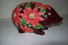 A LOVELY TINA WAGSTAFFE DESIGNED ( FLORAL PARADE ) FLOWER EMBOSSED HEDGEHOG..