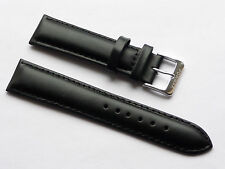 Quality Lug 20mm Black Genuine Leather Strap