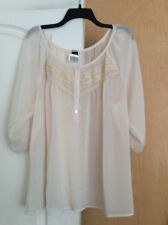 New Wrapper - Ivory/Sheer/lace Women Top Plus Size 2X - USA