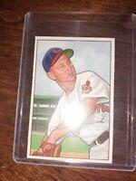 1952 Bowman # 203 Steve Gromek  Cleveland INDIANS vintage superb card!!