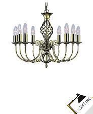 Chandelier Antique Brass Ø62cm Hanging Lamp LED Metal Dining Table