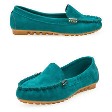 Womens Loafers Moccasins Slip On Flats Trainer Sneakers Plimsolls Casual Shoes