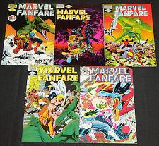 Vintage Marvel Copper Age MARVEL FANFARE 5pc Count Comic Lot VF Spider-Man X-Men