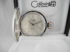 Watch W/Date New Reduced Colibri Swiss Silvertone Pocket