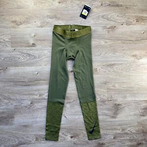 NWT Nike Pro Dri-Fit Tights Olive Green Compression Mens 929699-395