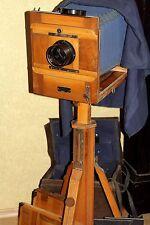 FKD 18x24 Soviet Old Wooden Large Format Camera I-37 lens 4.5/30cm +Tripod