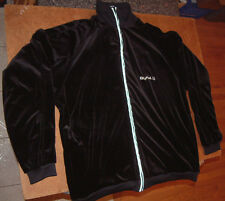 DUNK VELOUR VINTAGE JACKET COAT w/logo; 1990's Black, Size L