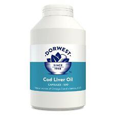 Dorwest aceite de Hígado de Bacalao Cápsulas x 500, Servicio Premium, envío rápido