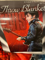 Elvis Presley Red Guitar PLUSH SOFT blanket throw NEW